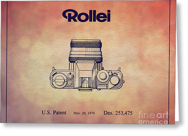 1979 Rollei Camera Patent Art 2 Greeting Card