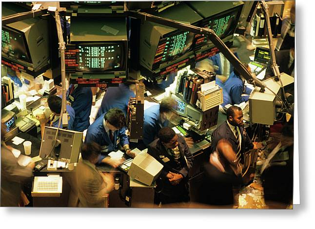 1980s New York Stock Exchange Greeting Card