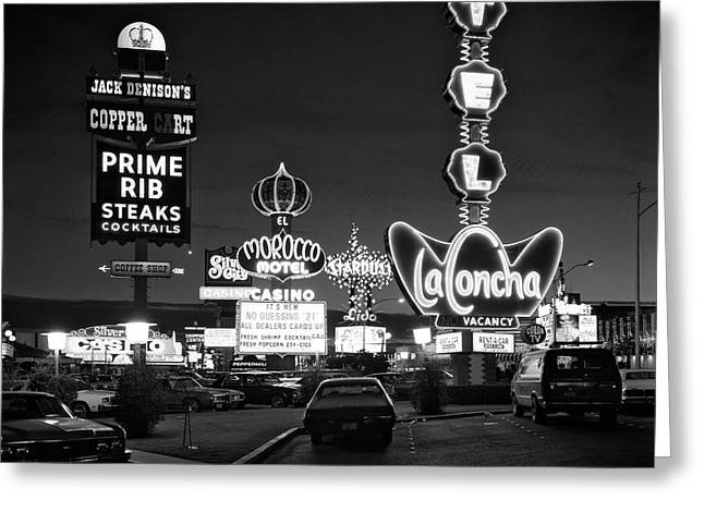 1980s Night Neon On The Strip For El Greeting Card
