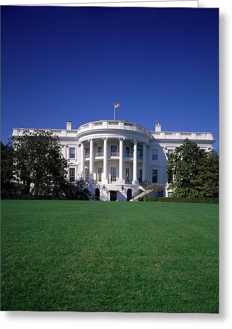 1980s The White House Washington Dc Usa Greeting Card