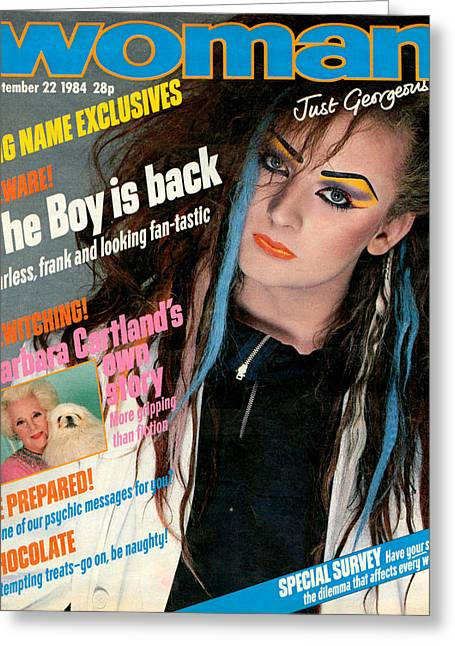 1980s Uk Woman Magazine Cover Greeting Card by The Advertising Archives