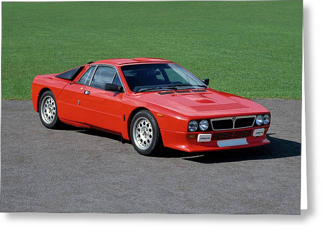1983 Lancia Abarth Rally 2.0 Litre, 2 Greeting Card by Panoramic Images