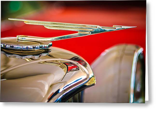 1984 Duesenberg Sj - Twenty Grand - Tribute Hood Ornament -1652c Greeting Card by Jill Reger