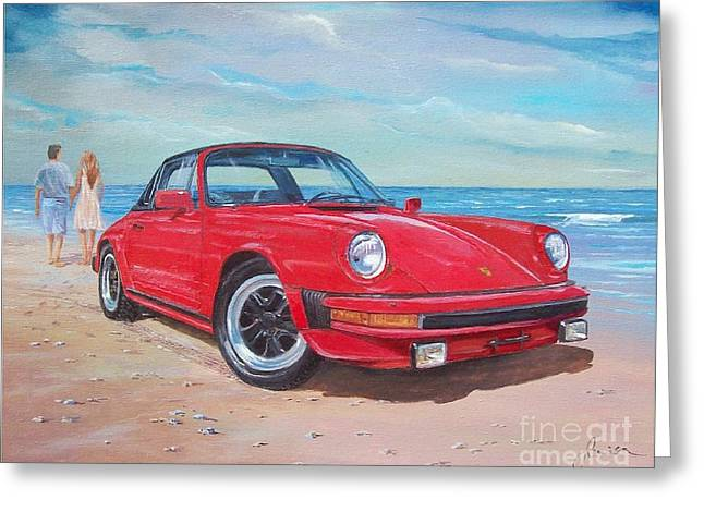 1985 Porsche 911 Targa Greeting Card