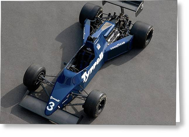 1985 Tyrrell-cosworth 012 3.0 Litre Greeting Card by Panoramic Images