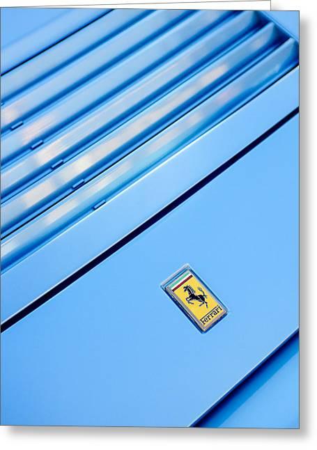 1986 Ferrari 328 Gts Hood Emblem Greeting Card by Jill Reger