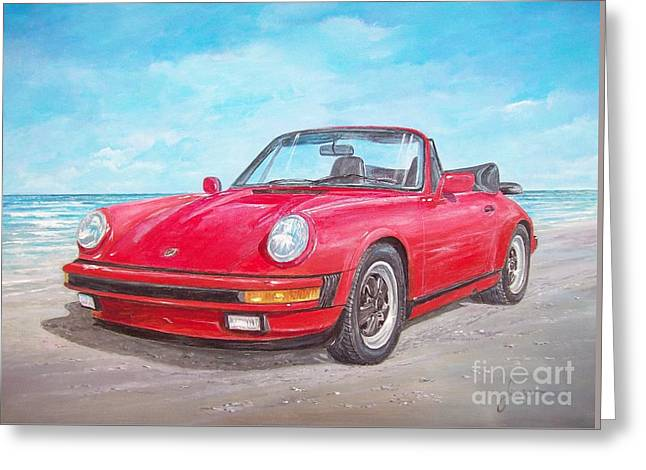 1987 Porsche Carrera Cabriolet Greeting Card