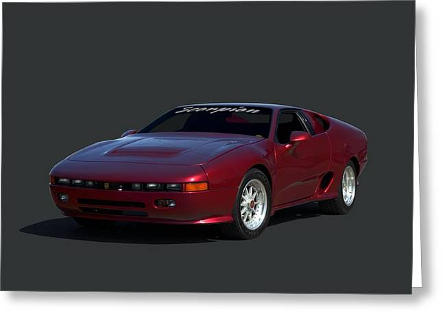 Greeting Card featuring the photograph 1988 Fireo Scorpion Kit Car by Tim McCullough