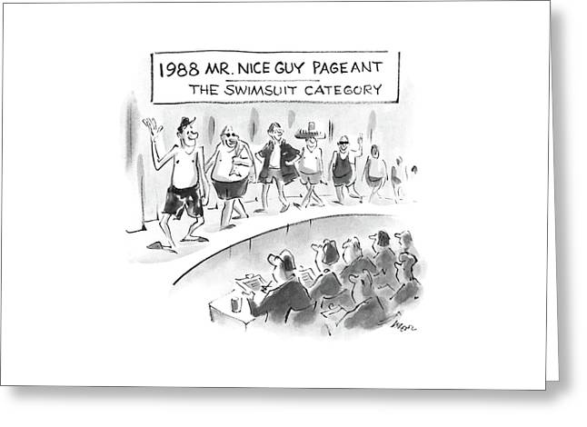 1988 Mr. Nice Guy Pageant-the Swimsuit Category Greeting Card