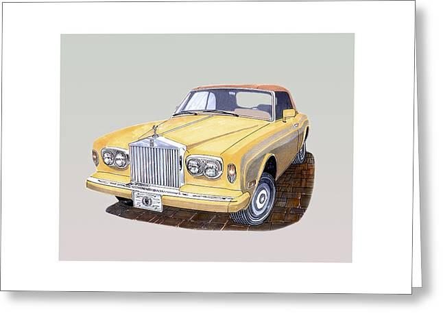 1988 Rolls  Royce's Corniche Convertible  Greeting Card