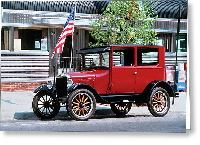 1990s Restored 1926 Ford Model T Greeting Card