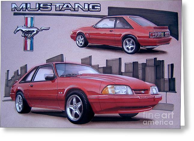 1993 Ford Mustang Greeting Card by Paul Kuras