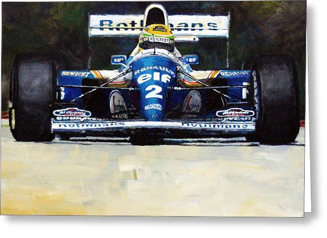 1994 Ayrton Senna Williams Renault Fw16 Greeting Card