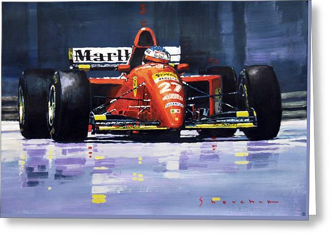 1995 Canada Gp Ferrari 412t2 J.alesi #27 Winner  Greeting Card by Yuriy Shevchuk