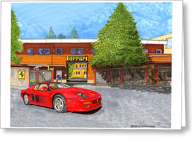 1995 Ferrari 512m Factory Delivey Greeting Card