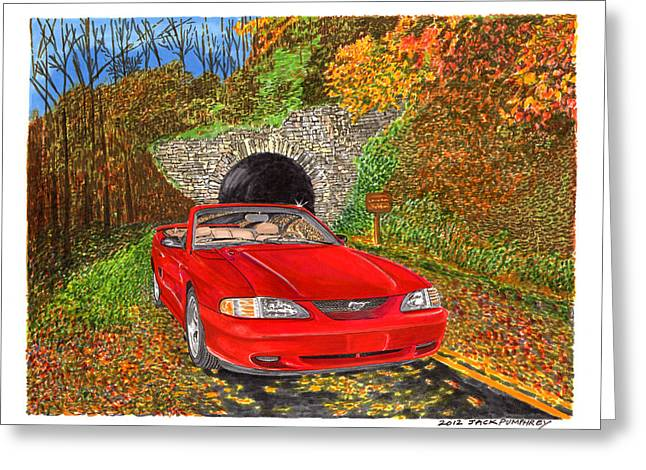 1996 Ford Mustang Gt In Fall Colors Greeting Card by Jack Pumphrey