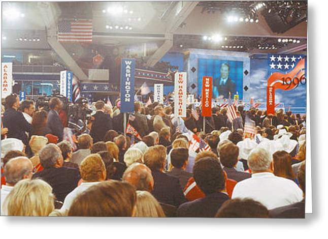 1996 Republican National Convention Greeting Card by Panoramic Images