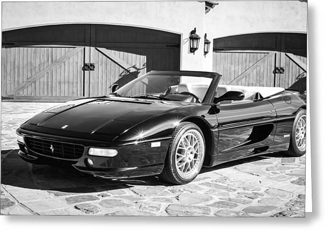 1997 Ferrari F 355 Spider -008bw Greeting Card by Jill Reger