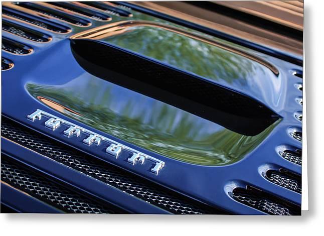 1997 Ferrari F 355 Spider Rear Emblem -117c Greeting Card by Jill Reger