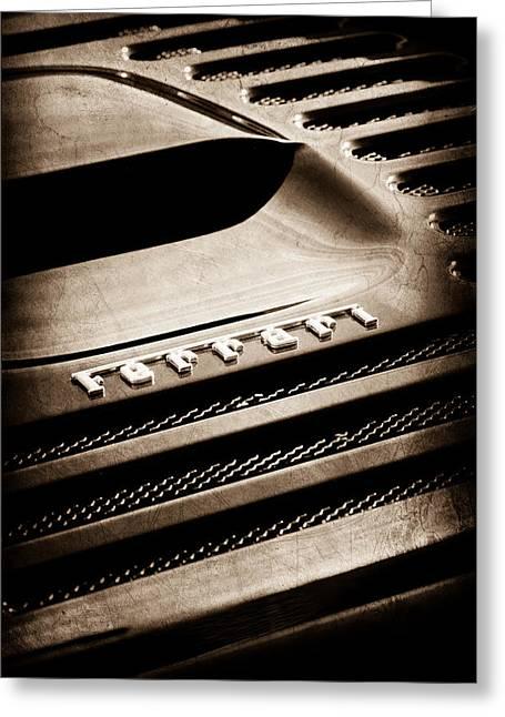 1997 Ferrari F 355 Spider Rear Emblem Greeting Card by Jill Reger
