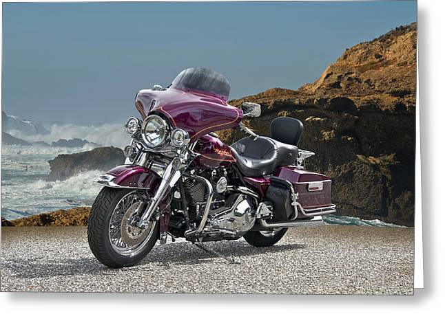 1997 Harley-davidson Road King Greeting Card by Dave Koontz