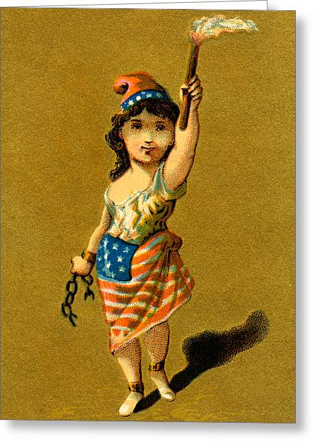 19th C. Lady Liberty  Greeting Card by Historic Image