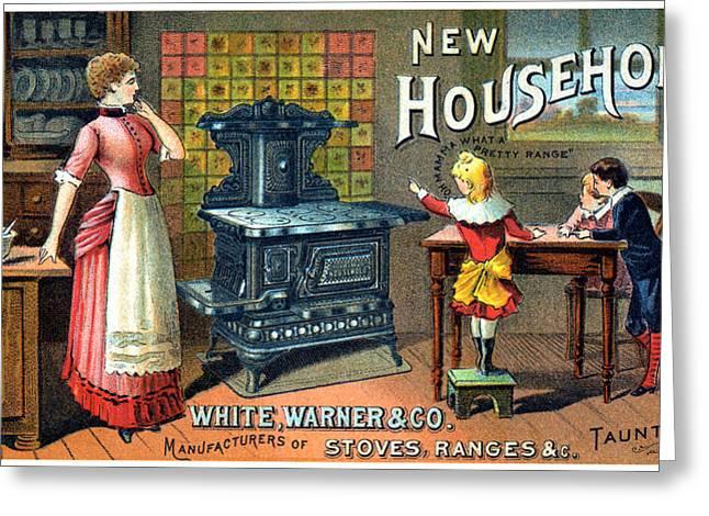 19th C. White Warner Woodstoves Greeting Card