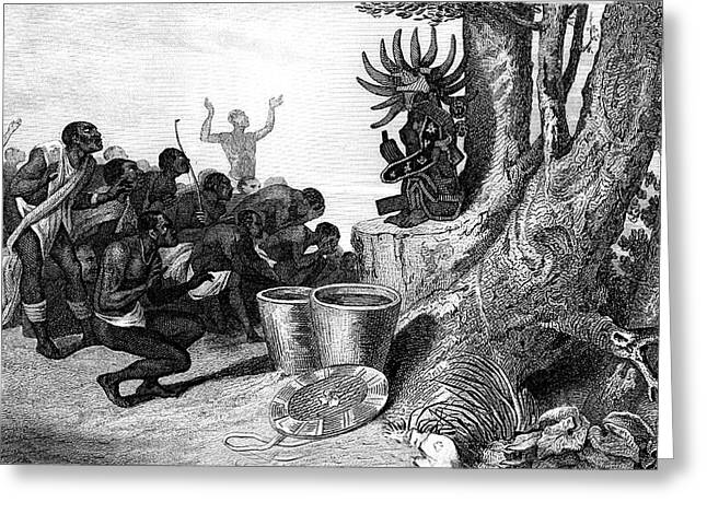 19th Century African Religious Ceremony Greeting Card