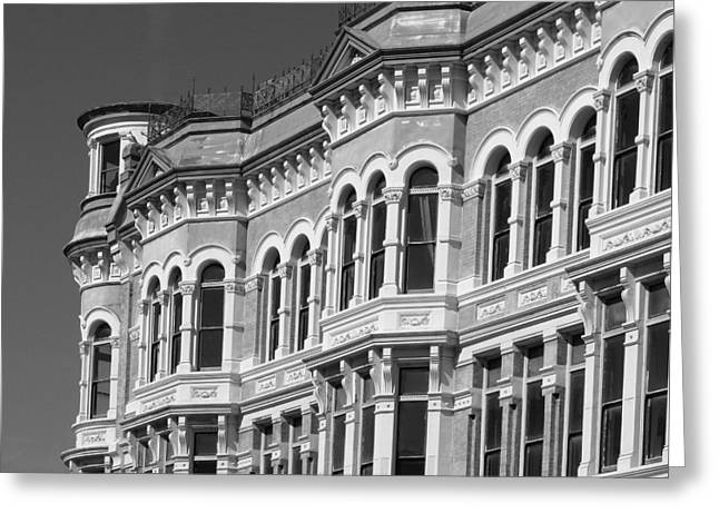 19th Century Architecture Bw Greeting Card by Connie Fox