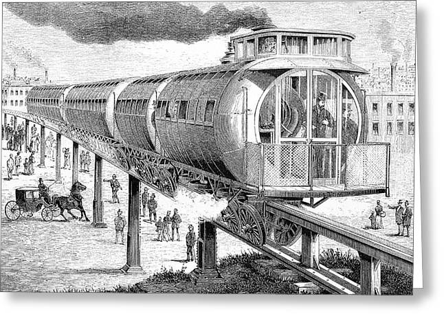 19th Century Elevated Railway Greeting Card