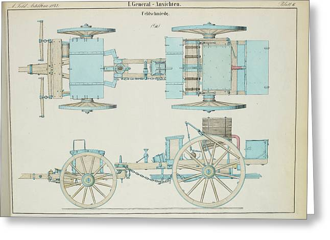 19th Century German Artillery Forge Greeting Card