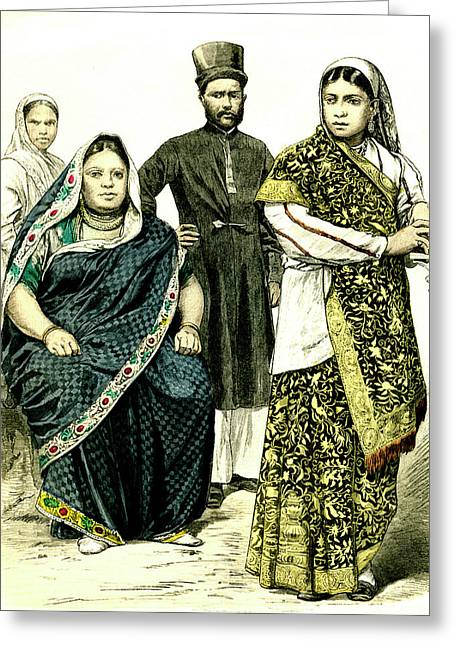 19th Century Indian People Greeting Card