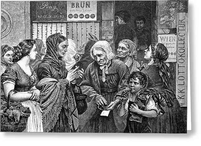 19th Century Lotto Players Greeting Card by Bildagentur-online/tschanz