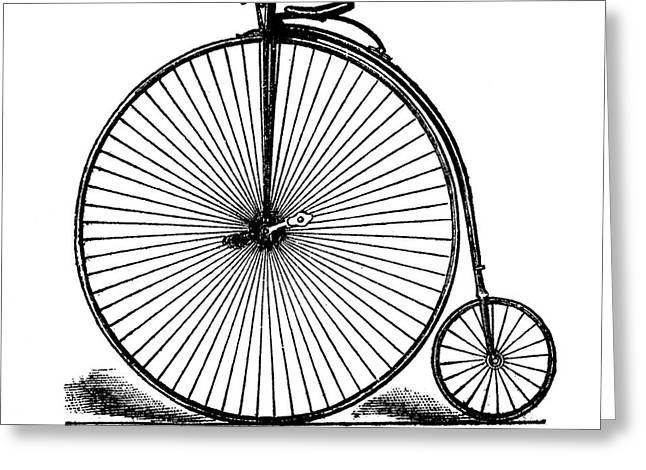 19th Century Penny-farthing Greeting Card