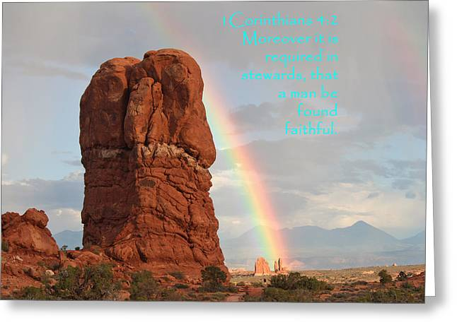 Arches 1 Cor 4-2 Greeting Card by Nelson Skinner
