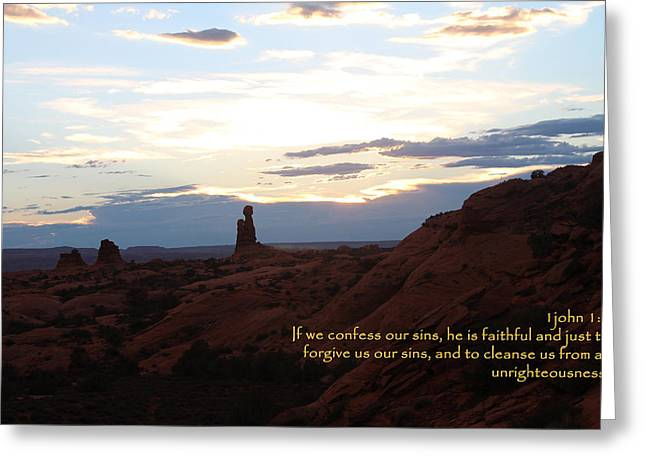 Arches 1 John 1-9 Greeting Card by Nelson Skinner