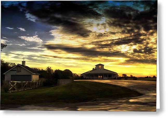 1st Light On The Farm Greeting Card