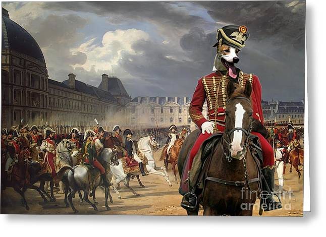 Magyar Agar - Hungarian Greyhound Art Canvas Print Greeting Card