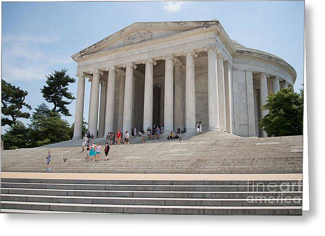 Thomas Jefferson Memorial Greeting Card by Carol Ailles