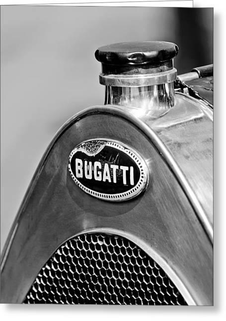 1920 Bugatti Type 13 Grille Emblem Greeting Card by Jill Reger