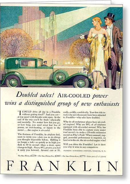 1920s Usa Franklin Magazine Advert Greeting Card
