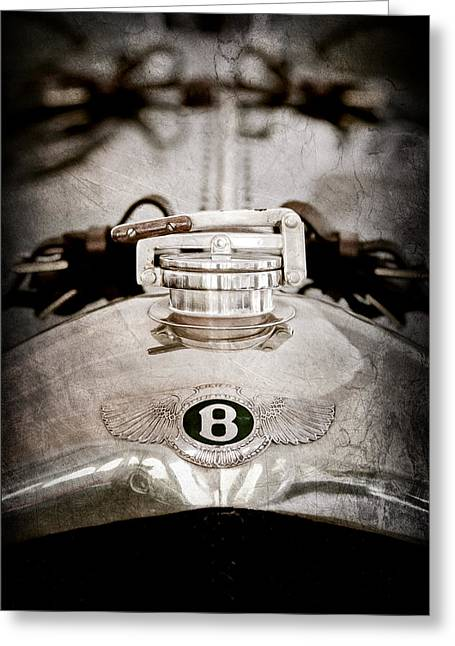 1925 Bentley 3-liter 100mph Supersports Brooklands Two-seater Radiator Cap Greeting Card