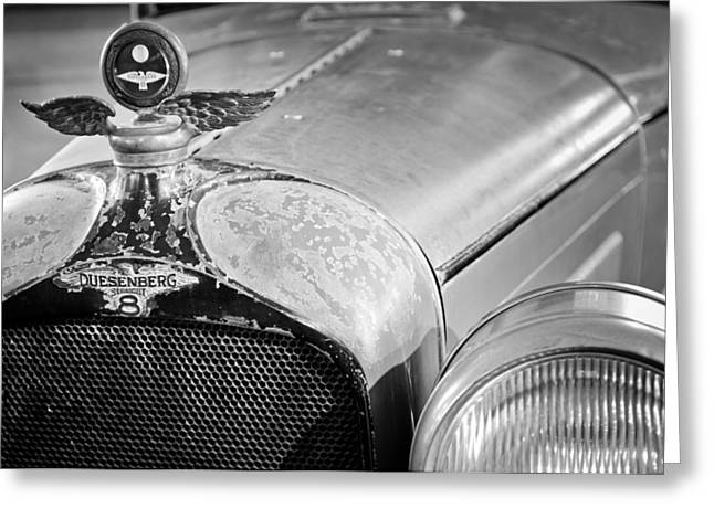 1926 Duesenberg Model A Boyce Motometer - Hood Ornament Greeting Card by Jill Reger