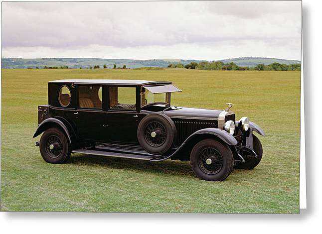 1927 Hispano Suiza H6b, 4-door Greeting Card by Panoramic Images