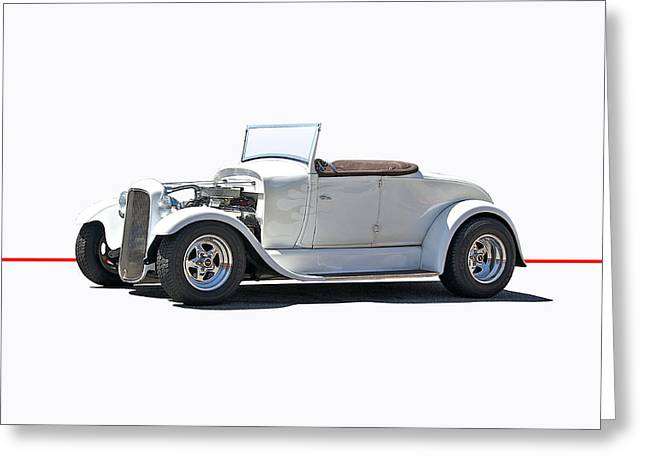 1930 Ford Model A Roadster Greeting Card by Dave Koontz