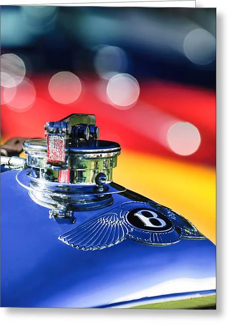 1931 Bentley 4.5 Liter Supercharged Le Mans Hood Emblem -1122c Greeting Card