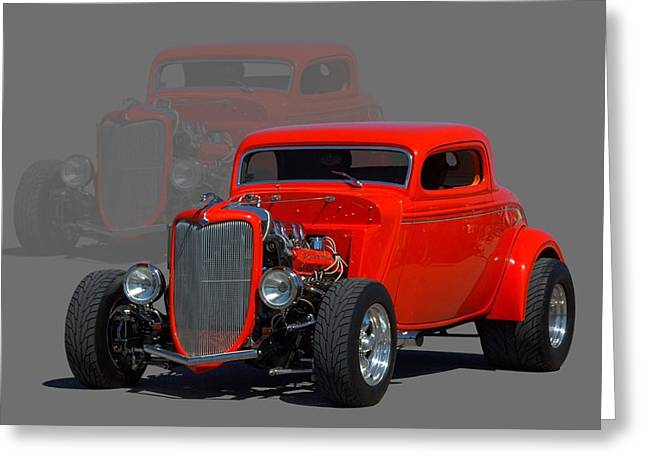 1934 Ford Coupe Hot Rod Greeting Card