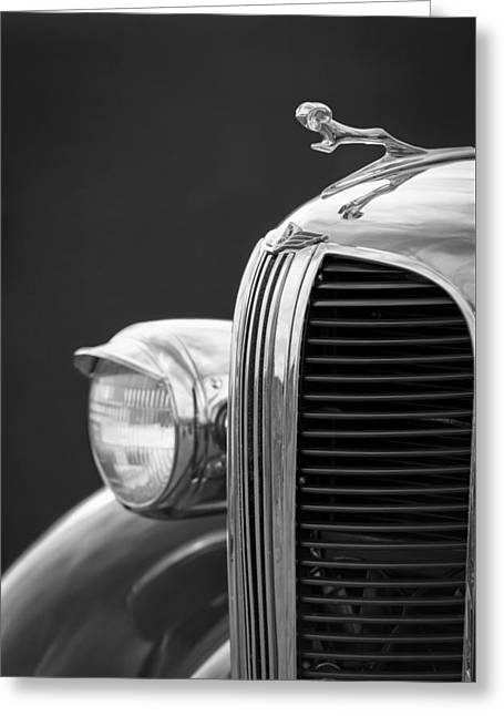 1938 Dodge Ram Grille - Hood Ornament Greeting Card