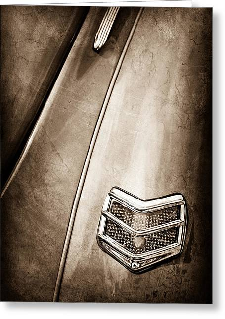 1940 Ford Deluxe Coupe Taillight Greeting Card by Jill Reger