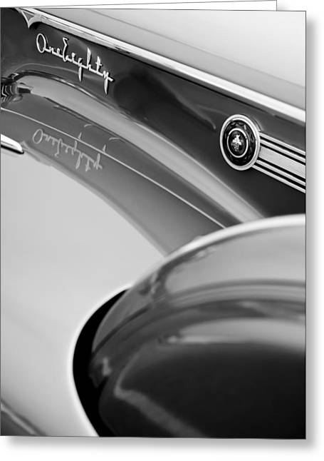 1941 Packard 1907 Custom Eight One-eighty Lebaron Sport Brougham Side Emblems Greeting Card